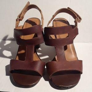 Banana republic  block heels  sandals